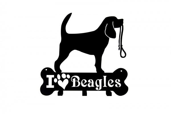 Wieszak na ścianę, I love Beagle
