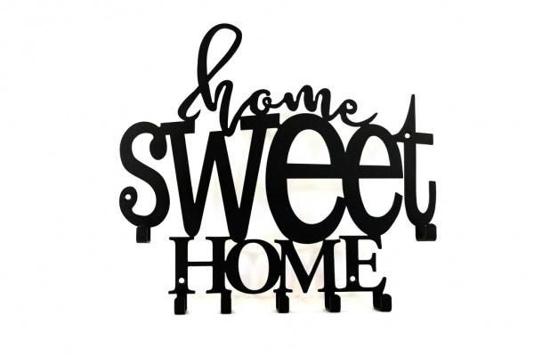 Wieszak na klucze Home sweet Home kwadratowy