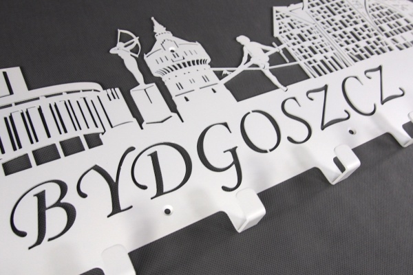 Wieszak do przedpokoju BYDGOSZCZ - Wieszak z miastem