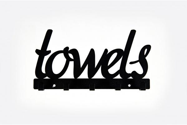 Wieszak łazienkowy na ręczniki, Towels