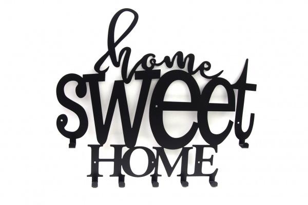 Wieszak do przedpokoju Home sweet Home kwadratowy