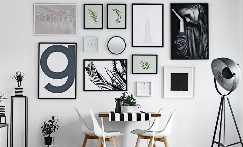 Ściana niczym galeria