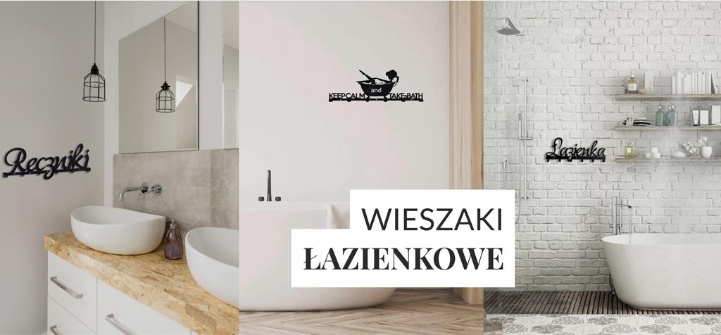 Wieszaki łazienkowe